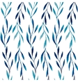 Watercolor seamless pattern of blue leaves vector image