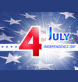 4th of july usa independence day poster vector image