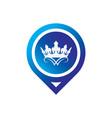 circle pin crown logo vector image