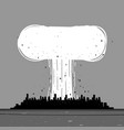 a nuclear explosion in city vector image vector image