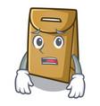 afraid paper bag in cartoon shape