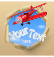 Airplane with a banner vector image vector image