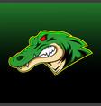 alligator sport mascot logo design vector image