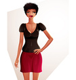 Attractive coquette lady colorful full body vector image vector image