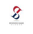 b letter logo business template vector image