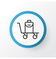 bag on cart icon symbol premium quality isolated vector image