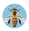 bee on blue background vector image