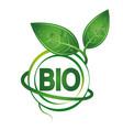 bio symbol design vector image vector image