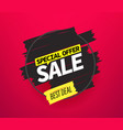 black friday best deal advertising banner vector image
