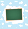 Blackboard hangs on a cloud vector image