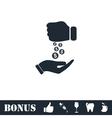 Bribe icon flat vector image