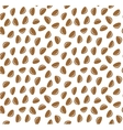 Cedar nuts seamless pattern background vector image vector image