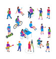 children education icon set vector image
