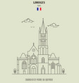 church of st-pierre-du-queyroix in limoges vector image vector image