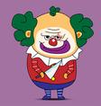 Clown cartoon vector image