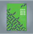 cover annual report 858 vector image