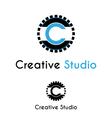 Creative studio logo vector image