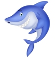 Cute shark cartoon vector image vector image