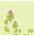 Doamonds flower 1 vector image vector image
