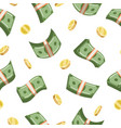 dollars payment pattern vector image