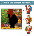 find correct pictures shadow santa claus vector image vector image