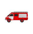 fire van car emergency service vehicle vector image vector image
