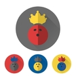 Flat bowling ball with crown vector image vector image