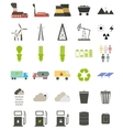 Flat icons on the theme of ecology vector image