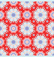 folkart stars pattern red blue and white vector image