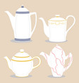 for ceramic teapot vector image vector image