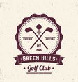 golf club vintage logo emblem badge vector image vector image