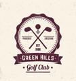golf club vintage logo emblem badge vector image