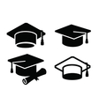 graduation map icon vector image vector image