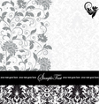 gray damask card vector image