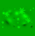 green stars background vector image vector image