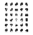 groceries category drop shadow black glyph icons vector image vector image