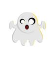 halloween ghost character design vector image vector image