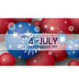 happy 4th july independence day vector image vector image