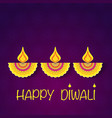 Happy diwali flower background