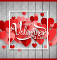 happy valentine day background vector image vector image