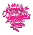 happy valentines day graffiti lettering vector image vector image