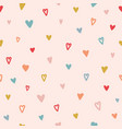 heart seamless pattern color hand drawn heart vector image vector image