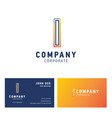 i company logo design with visiting card vector image vector image