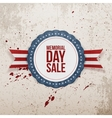 Memorial Day Sale textile Emblem and Ribbon vector image vector image