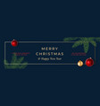merry christmas abstract frame greeting vector image vector image