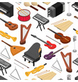 music instruments background pattern set isometric vector image