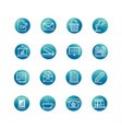 office supply equipment stationery icon set block vector image vector image