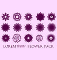 pack of 15 transparent pink abstract geometric vector image vector image