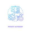 patients autonomy concept icon