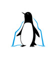 penguin and iceberg vector image vector image